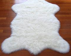 Snowy White Polar Bear Pelt contemporary-kids-rugs