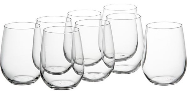 contemporary cups and glassware by Crate&Barrel