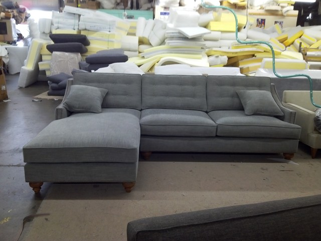 Lorenzo Sofa/Chaise Sectional - modern - sectional sofas - dallas