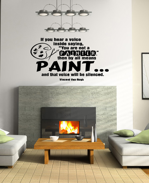 wall vinyl sticker decals art mural quote about paint wall mural quotes quotesgram