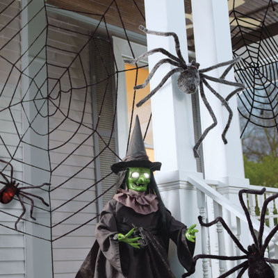 Set of Two Giant Halloween Spider Webs - Halloween Decorations and Decor traditional-holiday-decorations