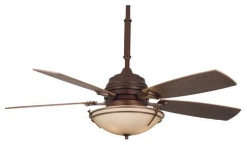 Fanimation HF6600MH Hubbardton 54 in. Indoor Ceiling Fan - Mahogany contemporary-ceiling-fans