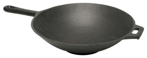 Bayou Classics Cast Iron Wok contemporary cookware and bakeware