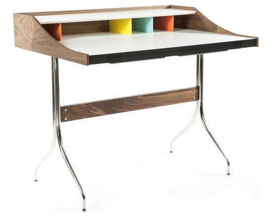 None - The Swag Desk - Colorful dividers,a single shelf and one plastic drawer makes this desk nearly perfect for your office or home. Make your work a little more fun and a little more organized with the divider features that this work table offers.