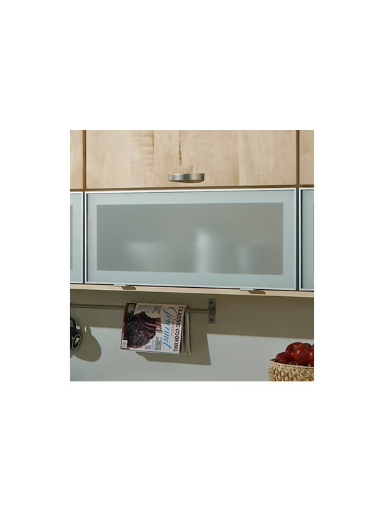 Aluminum Reverse Frame Glass Doors - With Aluminum Reverse Frame Glass Doors, the glass forms one smooth surface edge-to-edge, for a clean modern look. Opaque glass combines a bit of mystery with the feeling of openness.