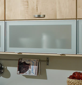 Aluminum Reverse Frame Glass Doors - Traditional - Kitchen Cabinetry - other metro - by Merillat