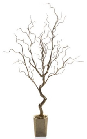 Potted Gold Twig Tree eclectic accessories and decor
