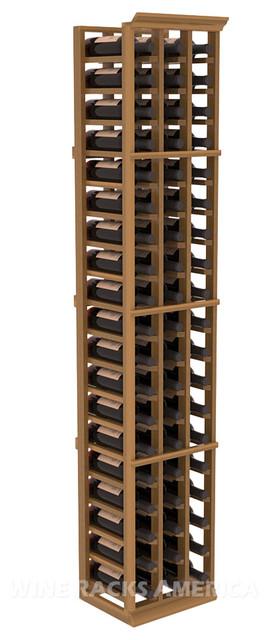 3 Column Standard Cellar Rack in Redwood with Oak Stain traditional-wine-racks
