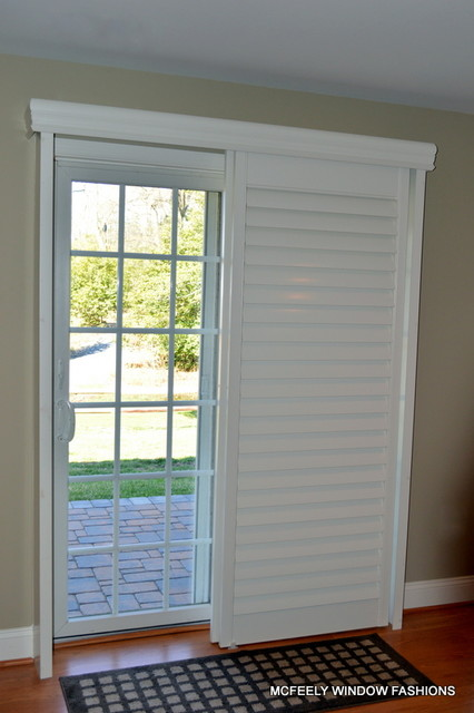 Custom Plantation Shutters For Sliding Glass Door Anne