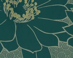 Glitter Blooms Wallpaper eclectic-wallpaper
