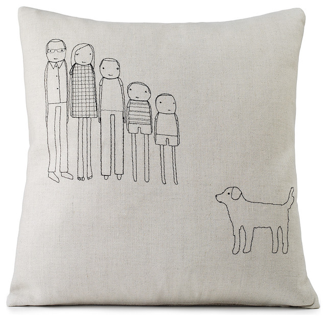 Personalized Family Pillow eclectic-decorative-pillows