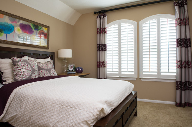 White Plantation Shutters - Contemporary - houston - by Rockwood Shutters, Blinds and Shades
