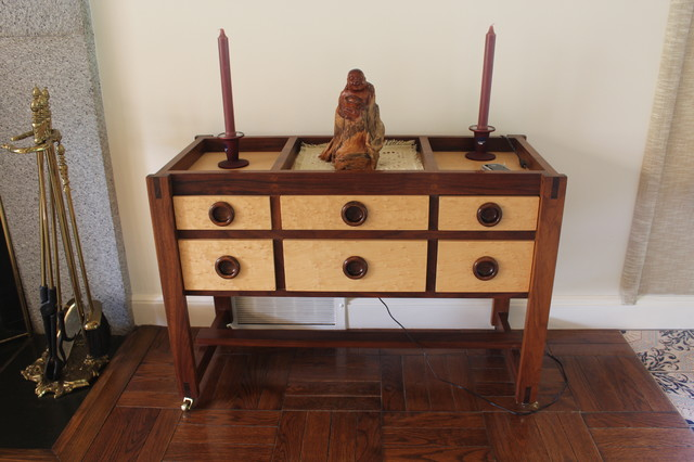 Asian Inspired Curio Cabinet - Furniture - new york - by R J Hoppe Inc