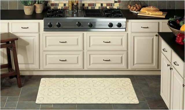 Rejuvenation anti fatigue kitchen mats by mohawk home for Traditional kitchen rugs