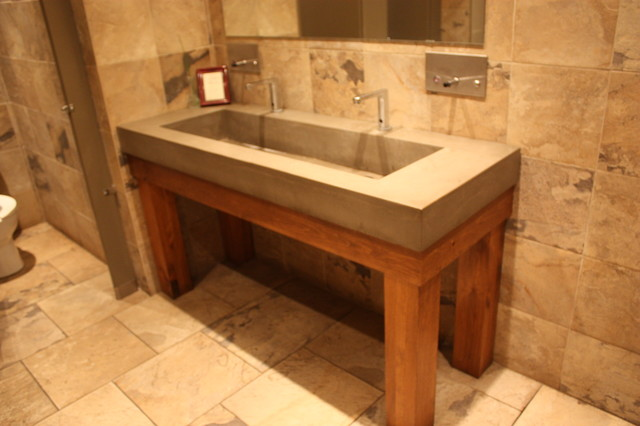 Concrete Trough Sink Traditional Bath Products