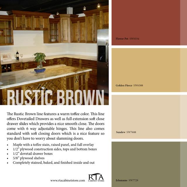 Color palettes rustic philadelphia by rta cabinet store - Rustic kitchen paint colors ...