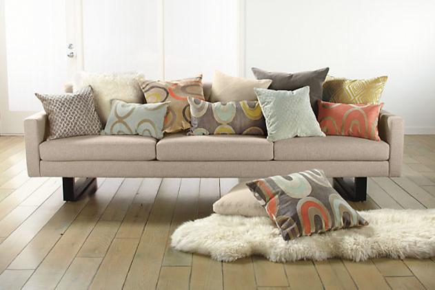 Arc Charcoal/Powder Pillow by R&B modern