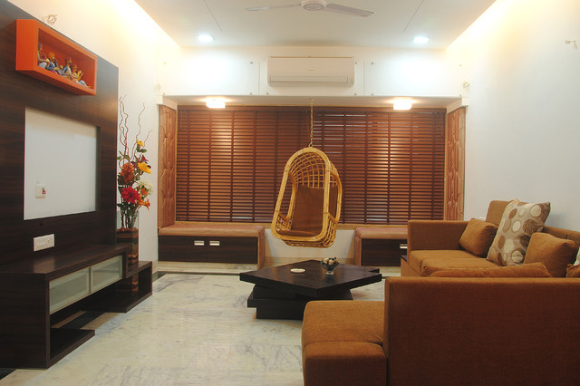 Indian houses interior designers india contemporary for Small apartment interior design india