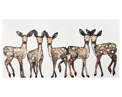 Oh Deer Canvas Wall Art contemporary-prints-and-posters