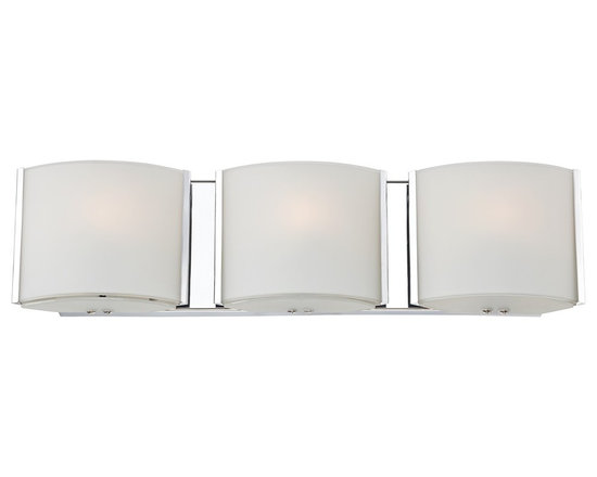 """Possini Euro Design - Contemporary Possini Euro 19 3/4"""" Wide Frosted Glass Band Bathroom Light - You'll love this contemporary three-light bathroom fixture for its bold geometric style. The design features contoured rectangular frosted glass set in a brilliant chrome finished frame. Halogen bulbs offer clean white light ideal for the bath area. From Possini Euro Design. Chrome finish. Frosted glass. Includes three 40 watt G9 halogen bulbs. 19 3/4"""" wide. 3 1/2"""" high. Extends 2 1 /2"""" from the wall.  Chrome finish.   Frosted glass.   Includes three 40 watt G9 halogen bulbs.   19 3/4"""" wide.   3 1/2"""" high.   Extends 2 1 /2"""" from the wall."""