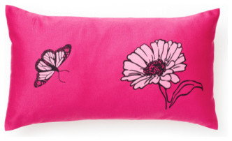 Fuchsia Daisy Pillow contemporary kids decor