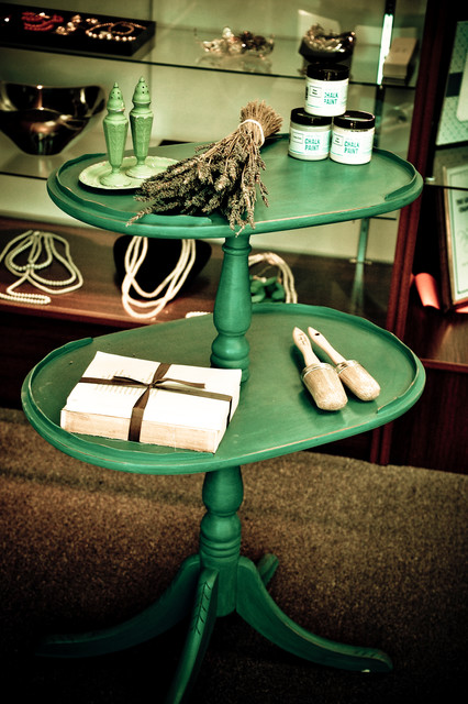 Annie Sloan Chalk Paint furniture pieces eclectic-side-tables-and-end-tables