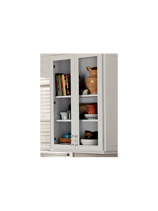 Glass Doors - Glass Doors added to wall cabinets create a showcase for favorite pieces.