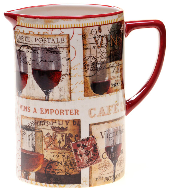 Certified International French Cellar Pitcher contemporary-pitchers