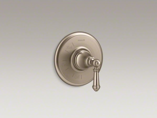 KOHLER Artifacts(TM) Rite-Temp(R) pressure-balancing valve trim with lever handl contemporary-bath-products