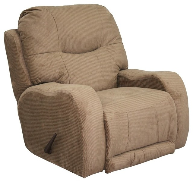 Catnapper - Reflections Chaise Rocker Recliner in Cafe Fabric - 4547-2CF contemporary-fabric