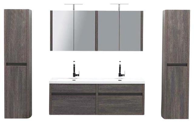 Wall Mounted Double Sink : 59.5