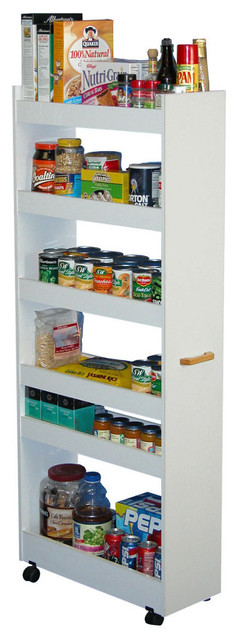 Thin Man Pantry Cabinet - White contemporary-pantry-cabinets