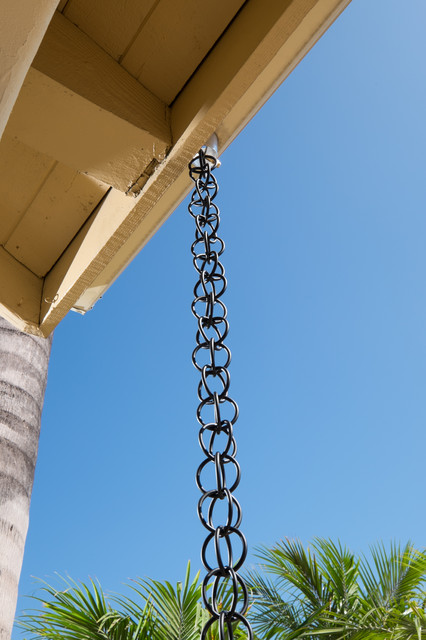 Black Aluminum Ring Rain Chain - Modern - Rain Chains ...