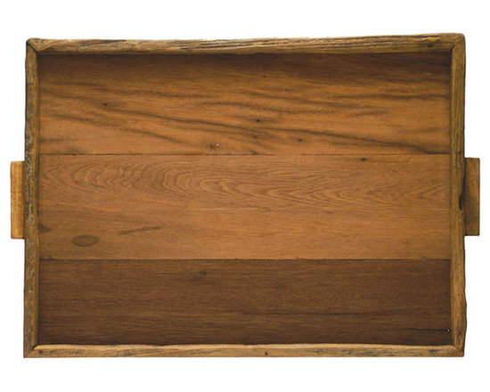 Be Home - Reclaimed Wood Tray, XL - With its stylish salvage vibe and extra large size, this tray will serve you well — for everything from cocktail parties to breakfast in bed. Made of either reclaimed, ecologically harvested or logging industry excess wood, you'll feel good about using it.