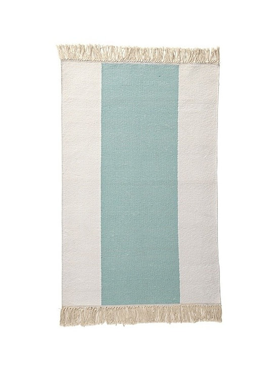 Serena & Lily - Aqua Broad Stripe Bath Dhurrie - Regular bath mats are boring, which is why I love these dhurries by Serena & Lily. They come in a variety of colors and definitely look a lot better than your average mats.
