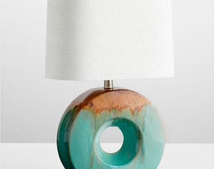 Glazed Ceramic Ring Table Lamp contemporary-table-lamps