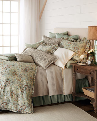 French Laundry Home Tweed European Sham traditional-pillowcases-and-shams