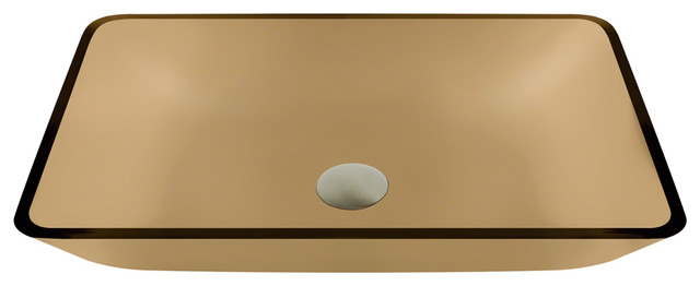 Taupe Colored Glass Sink modern-bathroom-sinks