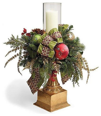 Christmas joy single hurricane christmas decor for Traditional christmas decorating ideas