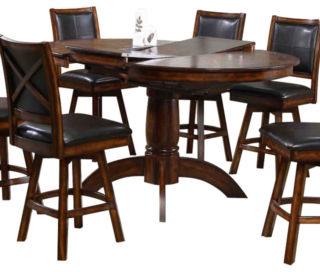 Franco 40 Rustic Marble Counter Height Dining Table With .