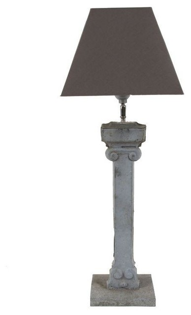 French 19th Century Architectural Drain Pipe Lamp Farmhouse Table Lamps