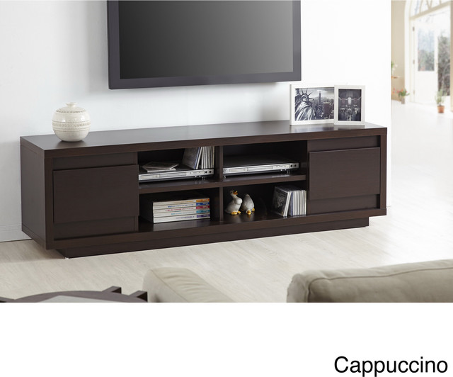 Irvine contemporary 70 inch entertainment tv console for 70 inch console table