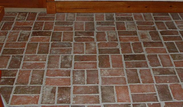 Brick Style Flooring : Inglenook tile design traditional wall and floor