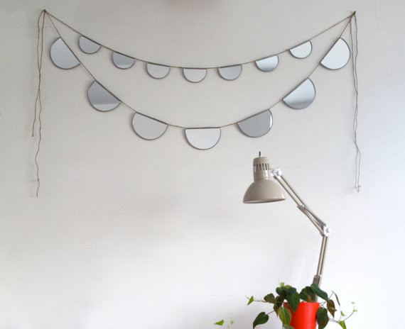 Mirror Bunting Small Half-Circle Banner Garland by Fluxglass eclectic-mirrors