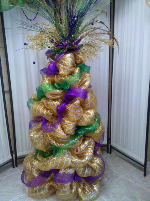 Mardi Gras Deco Mesh Tree