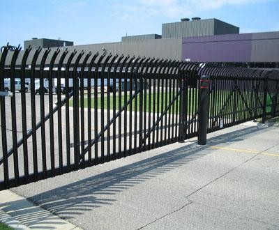 Impasse® Heavy Duty Steel Fence - Modern - Home Fencing And Gates - other metro - by Walpole ...