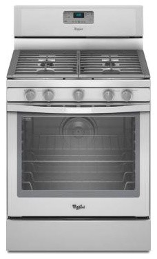 Whirlpool Range. 5.8 cu. ft. Gas Range with Self-Cleaning Convection Oven in Whi contemporary-gas-ranges-and-electric-ranges