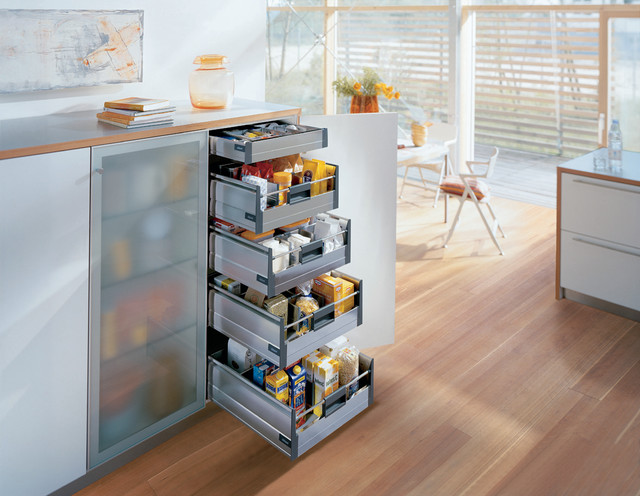 Blum Kitchen Accessories Storage Drawers Contemporary
