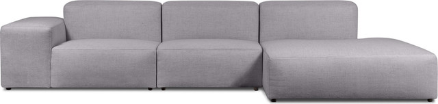 Edison Sectional Sofa Light Grey left modern sectional sofas