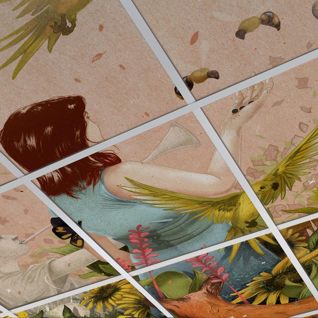 Custom Printed Foldscape Drop Ceiling Tiles Contemporary